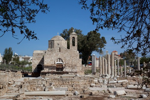 Stock Photo: 1885-21534 Cyprus, Kato Paphos, Paphos, Agia Kyriaki Church