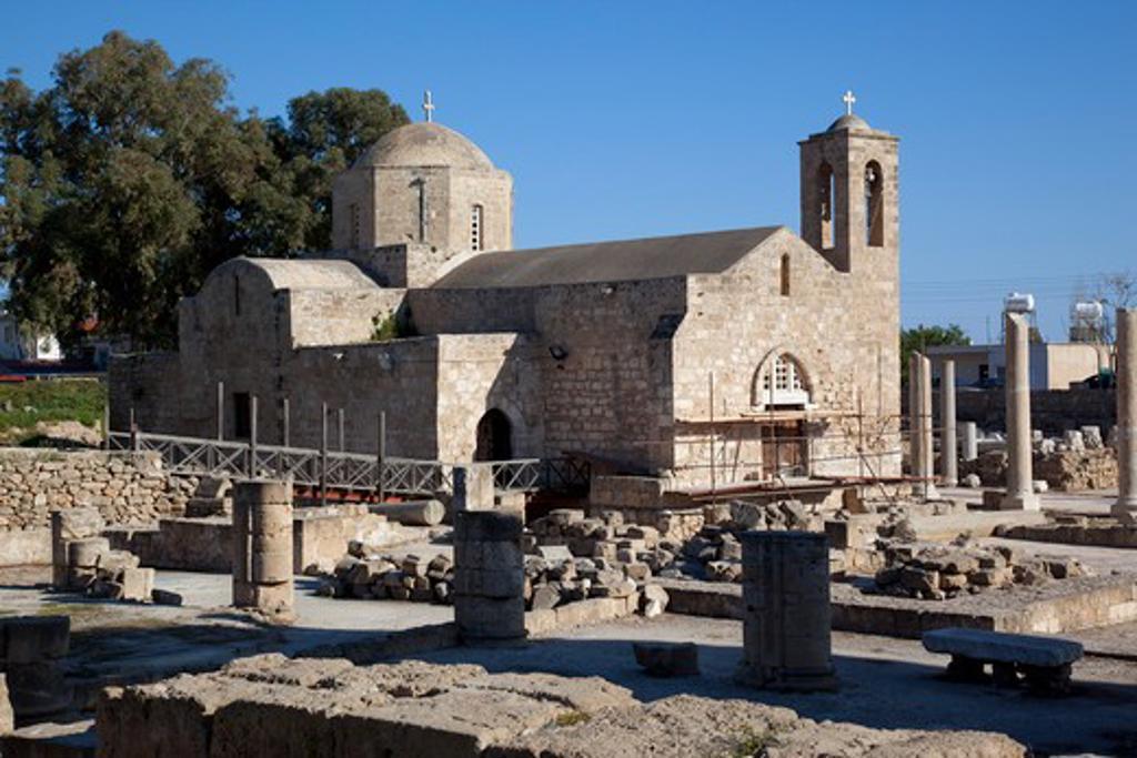 Cyprus, Kato Paphos, Paphos, Agia Kyriaki Church : Stock Photo