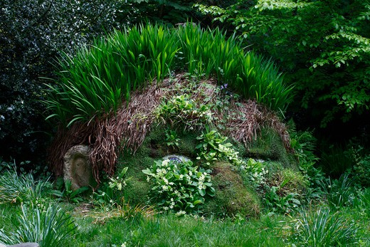 UK - England, Cornwall, Lost Gardens of Heligan, The giant's head : Stock Photo