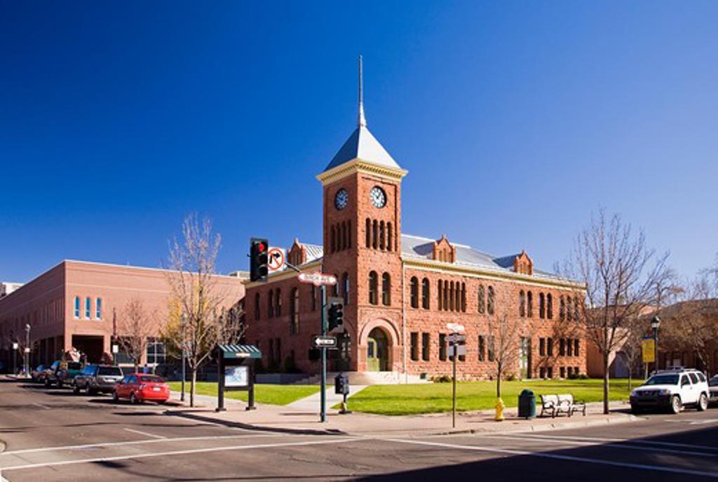 USA, Arizona, Flagstaff, The Courthouse on Birch Avenue : Stock Photo