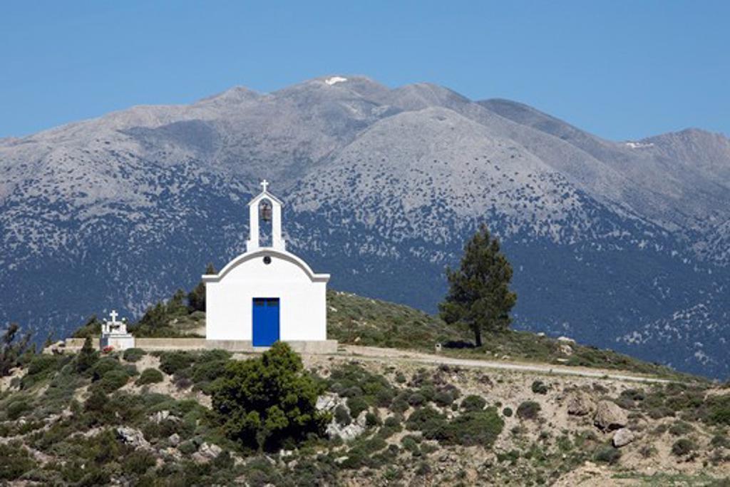 Stock Photo: 1885-23662 Greek Islands, Crete, Maza, Chapel in the White Mountains