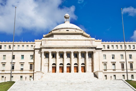 Caribbean, Puerto Rico, San Juan, Capitol Building : Stock Photo