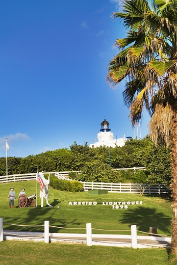 Caribbean, Puerto Rico, Arecibo, Arecibo Lighthouse and Historical Park - open air exhibition : Stock Photo