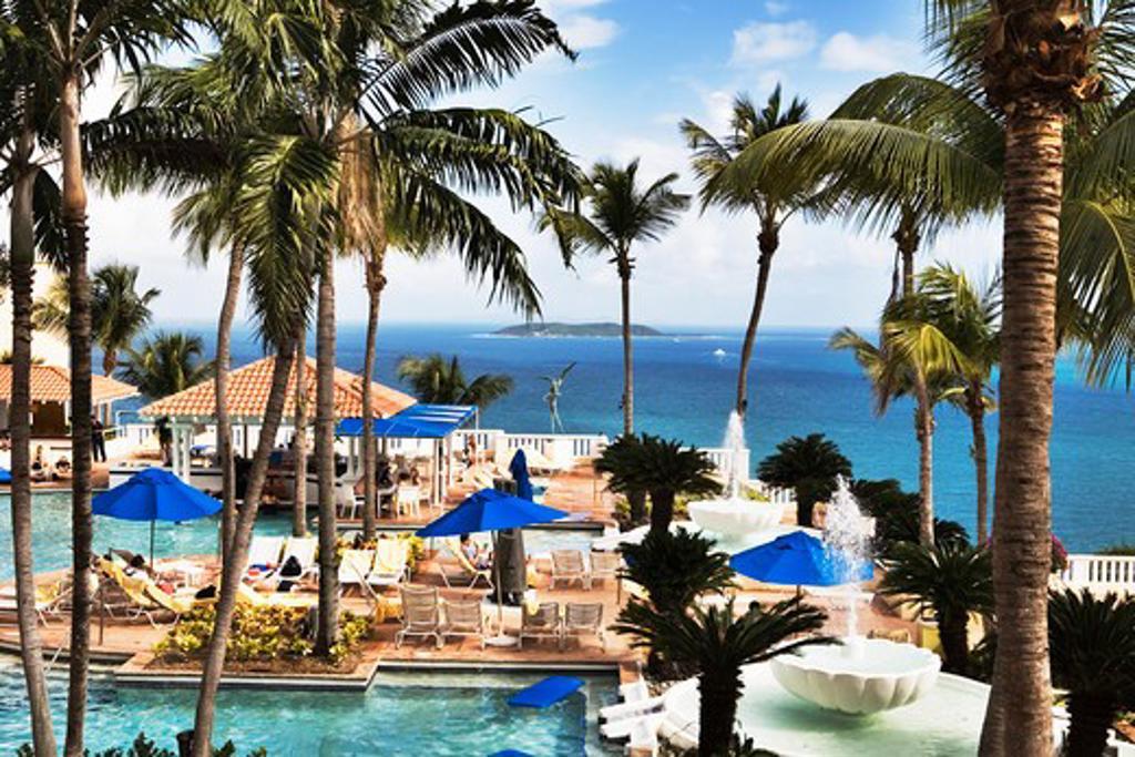 Caribbean, Puerto Rico, Fajardo, El Conquistador Hotel and Resort : Stock Photo