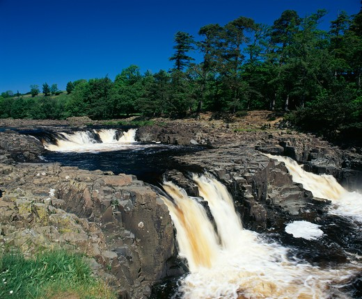Stock Photo: 1885-24162 UK - England, County Durham, Teesdale, Low Force waterfall