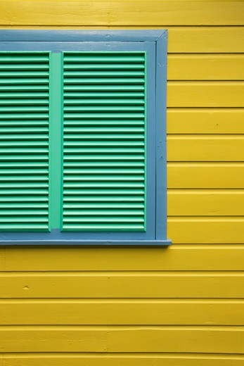 Caribbean, Barbados, Holetown, Chattel Village - window detail : Stock Photo