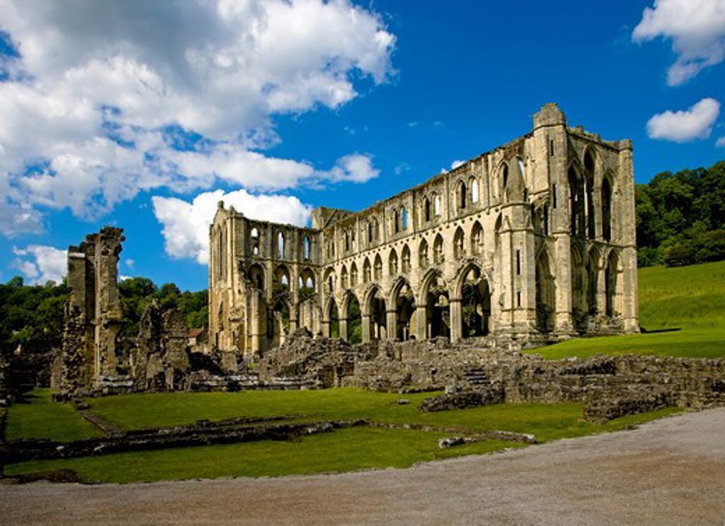 UK - England, Yorkshire, Ryedale, Rievaulx Abbey : Stock Photo