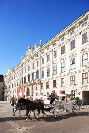 Austria, Vienna, Fiaker - horse and carriage : Stock Photo