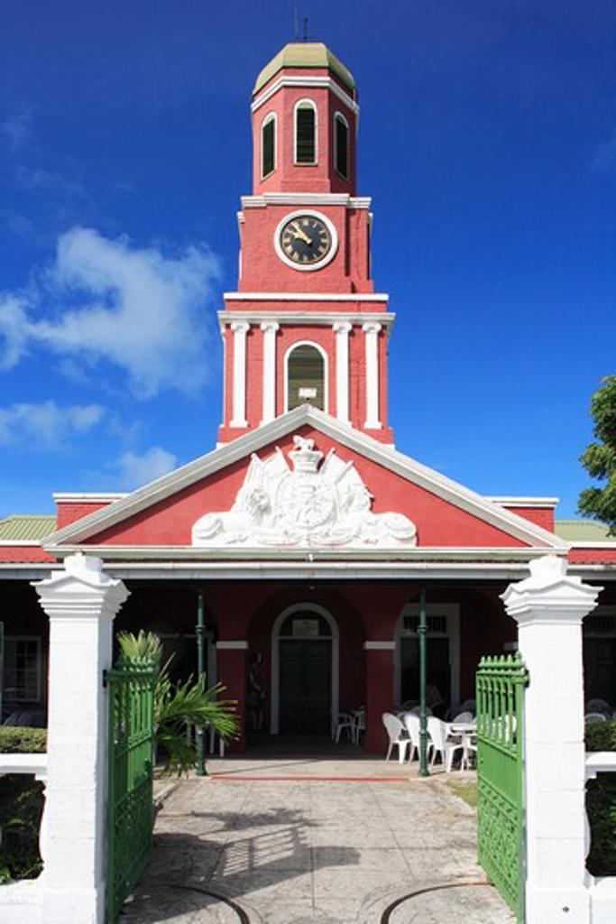 Caribbean, Barbados, Bridgetown, Garrison Historic Area - belltower : Stock Photo