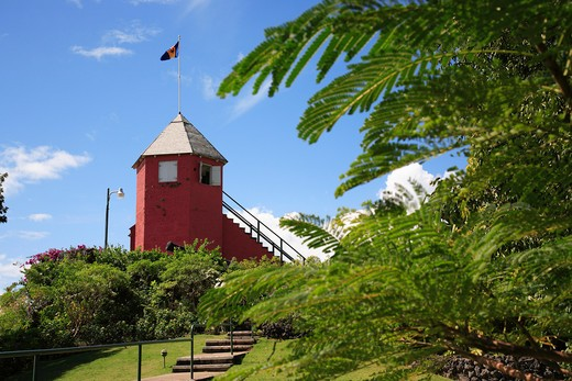 Caribbean, Barbados, St George, Gun Hill Signal Station : Stock Photo