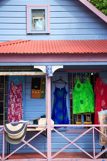 Caribbean, Barbados, St Lawrence Gap, A shop : Stock Photo