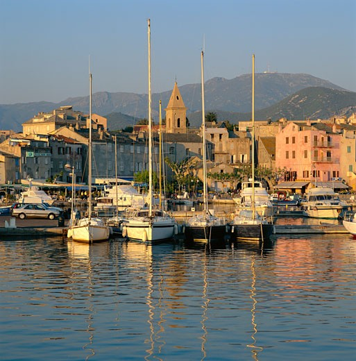 France, Corsica, St. Florent, Port De Plaisance : Stock Photo