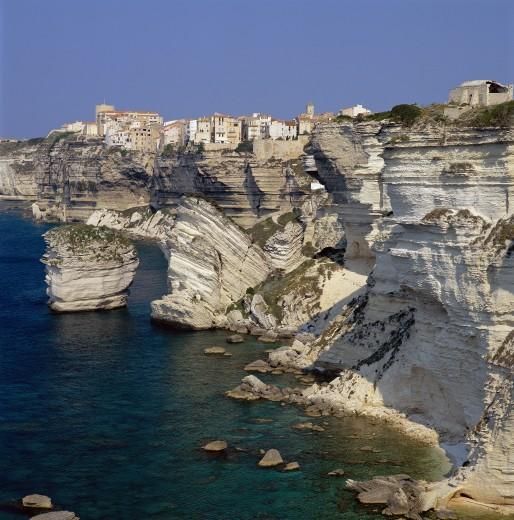 Stock Photo: 1885-2657 France, Corsica, Bonifacio, Cliffs