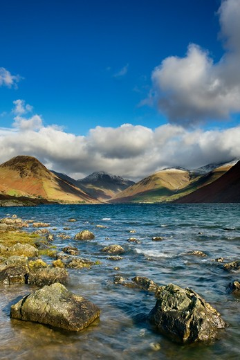Stock Photo: 1885-26930 UK- England, Cumbria, Lake District National Park, Clouds over Wastwater