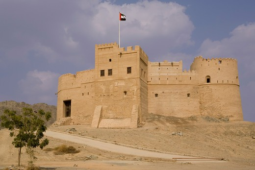 Stock Photo: 1885-26960 UAE, Fujairah, Fujairah, Fujairah Fort