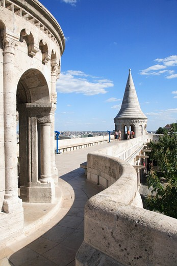 Hungary, Budapest, Fishermans Bastion : Stock Photo