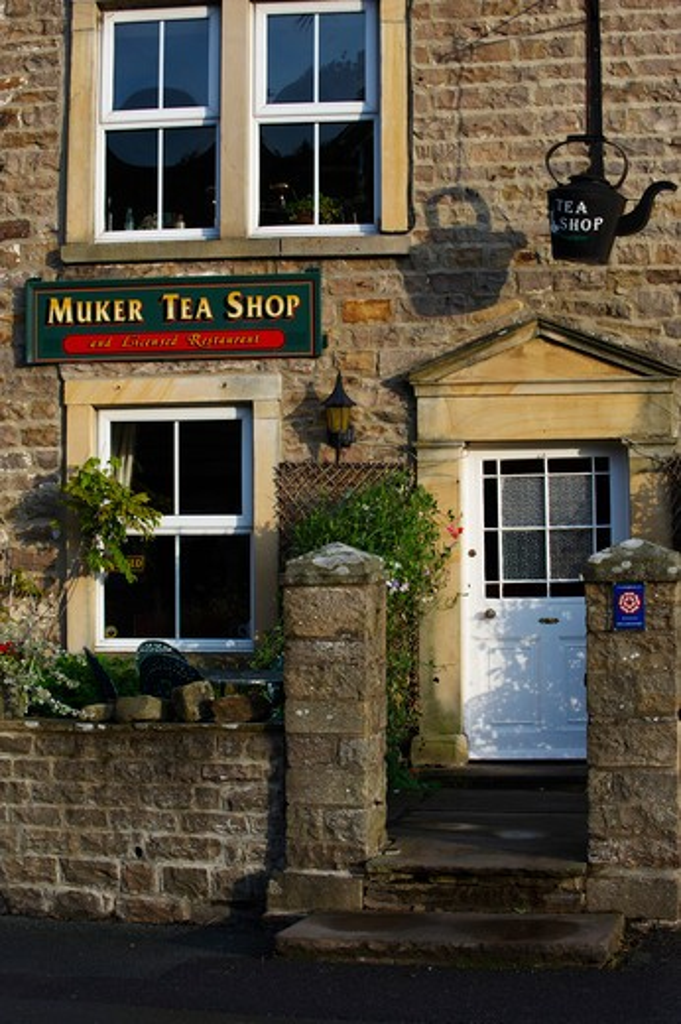 Stock Photo: 1885-27912 UK - England, Yorkshire, Swaledale, Village tea shop