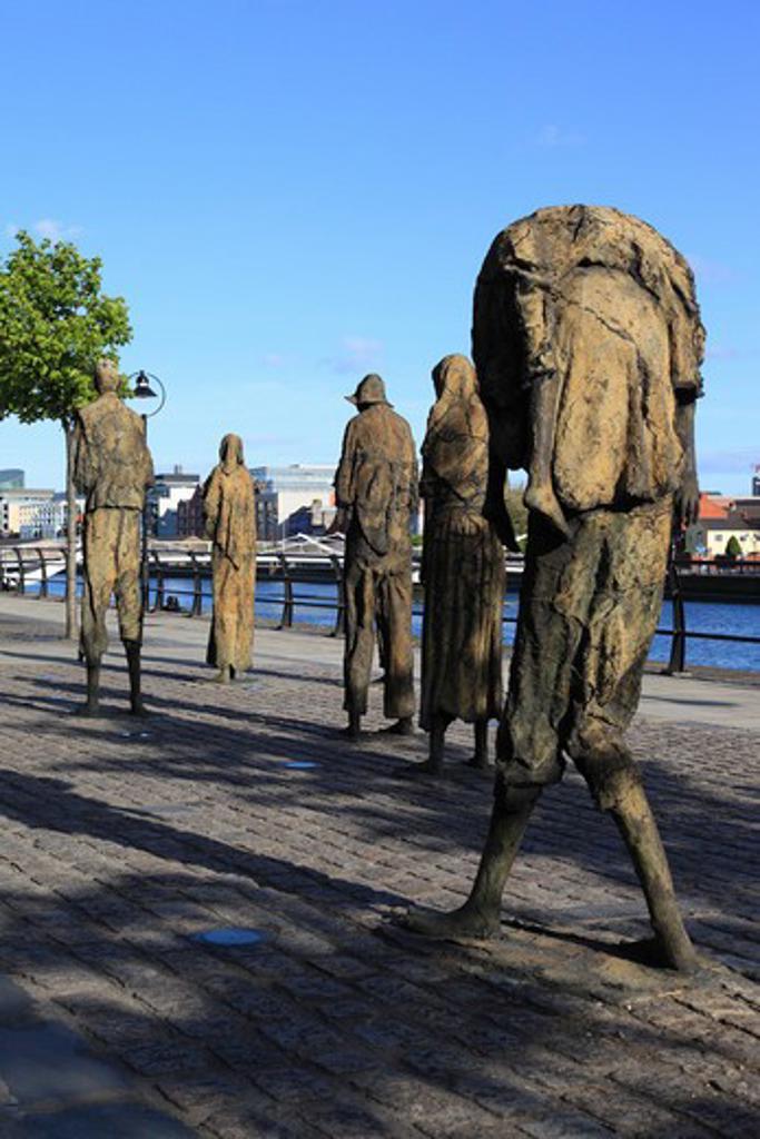 Ireland, County Dublin, Dublin, Famine Memorial : Stock Photo