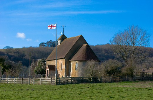 UK - England, West Sussex, Upwaltham, Church of St Mary the Virgin : Stock Photo