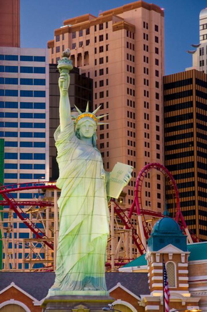 USA, Nevada, Las Vegas, New York New York Hotel and Casino : Stock Photo