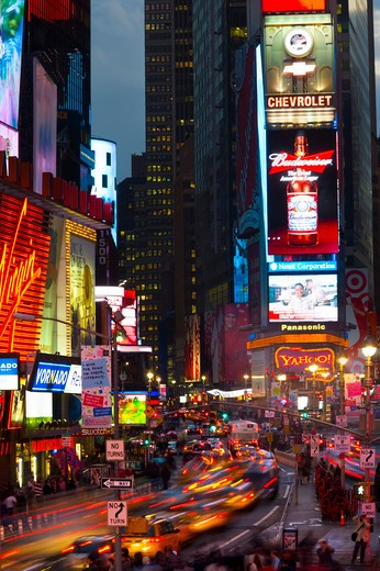 USA, New York State, New York, Times Square at night : Stock Photo