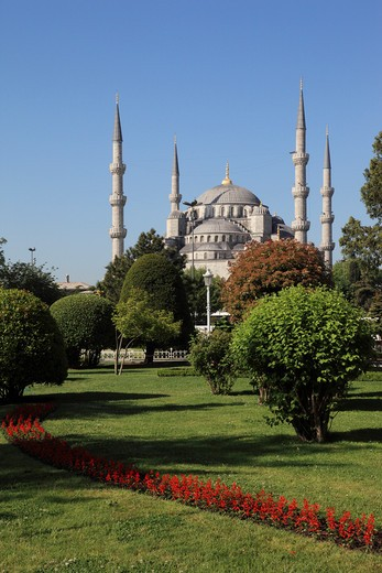Stock Photo: 1885-28461 Turkey, Istanbul, Blue Mosque and Sultanahmet Square