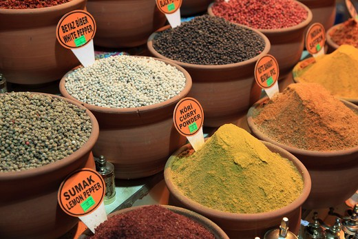 Turkey, Istanbul, Spices in the Egyptian Market : Stock Photo