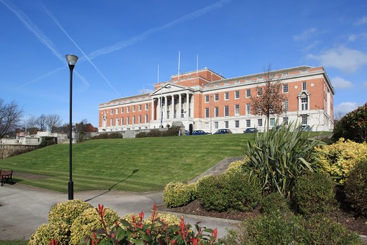 UK - England, Derbyshire, Chesterfield, Town Hall : Stock Photo