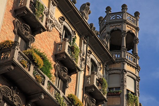 Stock Photo: 1885-29094 Italy, Piemonte, Turin, House on Corso Re Umberto and Corso Sommelier