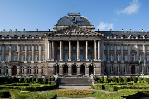 Belgium, Flanders, Brussels, Royal Palace and gardens : Stock Photo