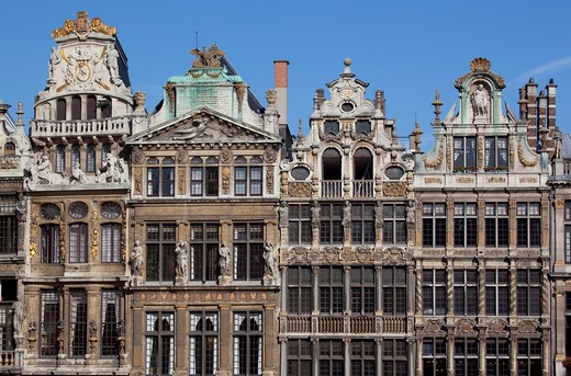 Stock Photo: 1885-29174 Belgium, Flanders, Brussels, Grand Place - architecture