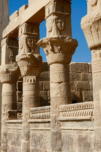 Egypt, Aswan - near, Temple of Isis at Philae : Stock Photo