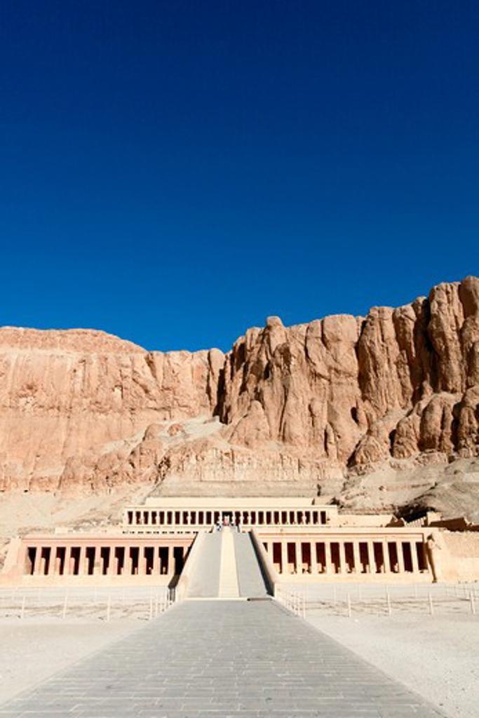 Egypt, Luxor - near, Temple of Queen Hatshepsut : Stock Photo