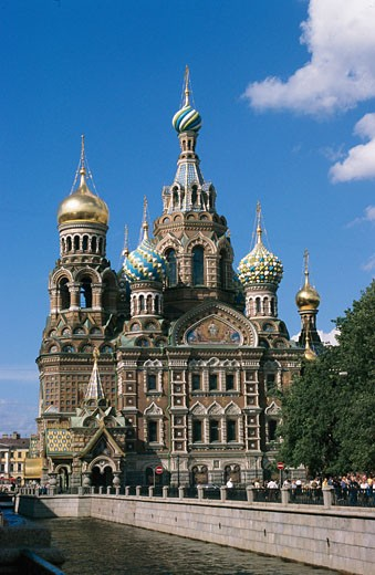 Stock Photo: 1885-2986 Russian Federation, , St Petersburg, Church of the Resurrection of Christ