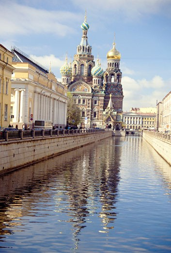 Russian Federation, , St Petersburg, Church of the Resurrection of Christ : Stock Photo