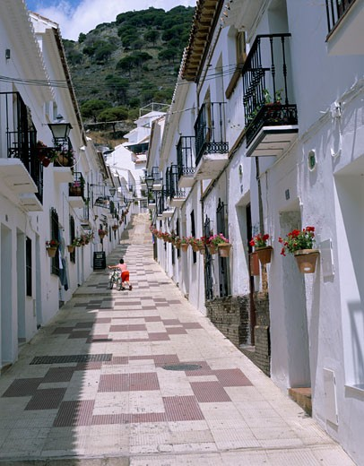 Spain, Andalucia, Mijas, Street Scene : Stock Photo