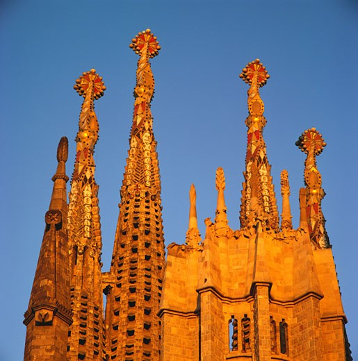 Stock Photo: 1885-3950 Spain, Catalunya, Barcelona, La Sagrada Familia (detail)