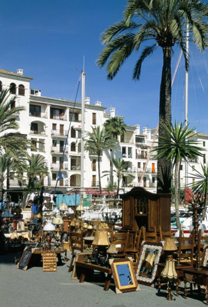 Spain, Costa del Sol, Malaga, Craft Fair Market - Puerto De La Duquesa : Stock Photo
