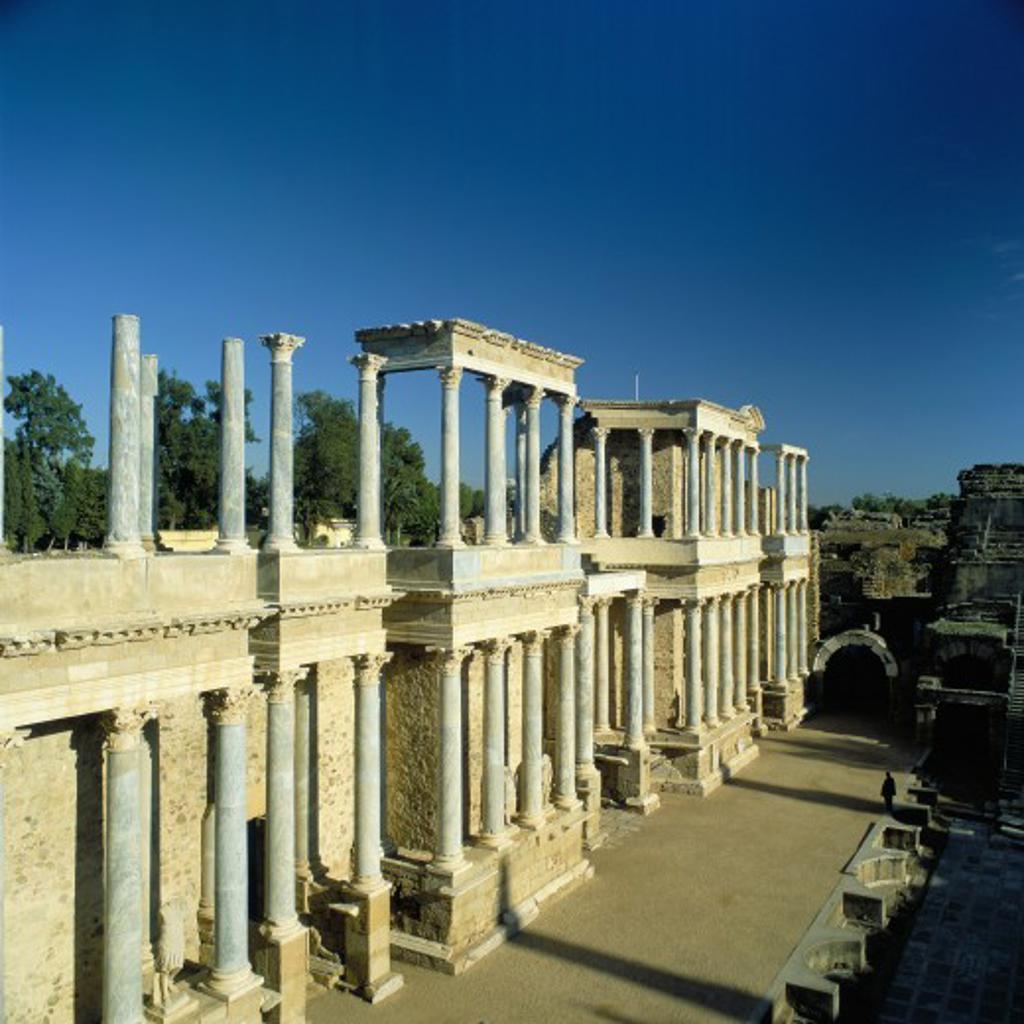 Spain, Extremadura, Merida, Amphitheatre : Stock Photo