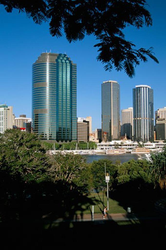 Australia, Queensland, Brisbane, City Skyline : Stock Photo