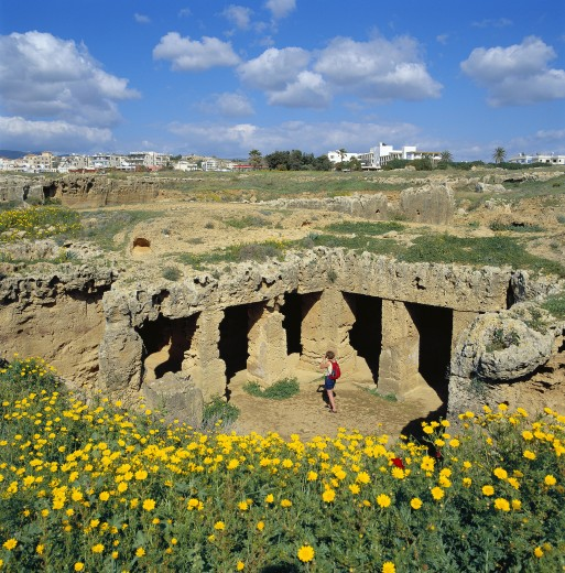Cyprus, South , Paphos, Tomb of the Kings : Stock Photo