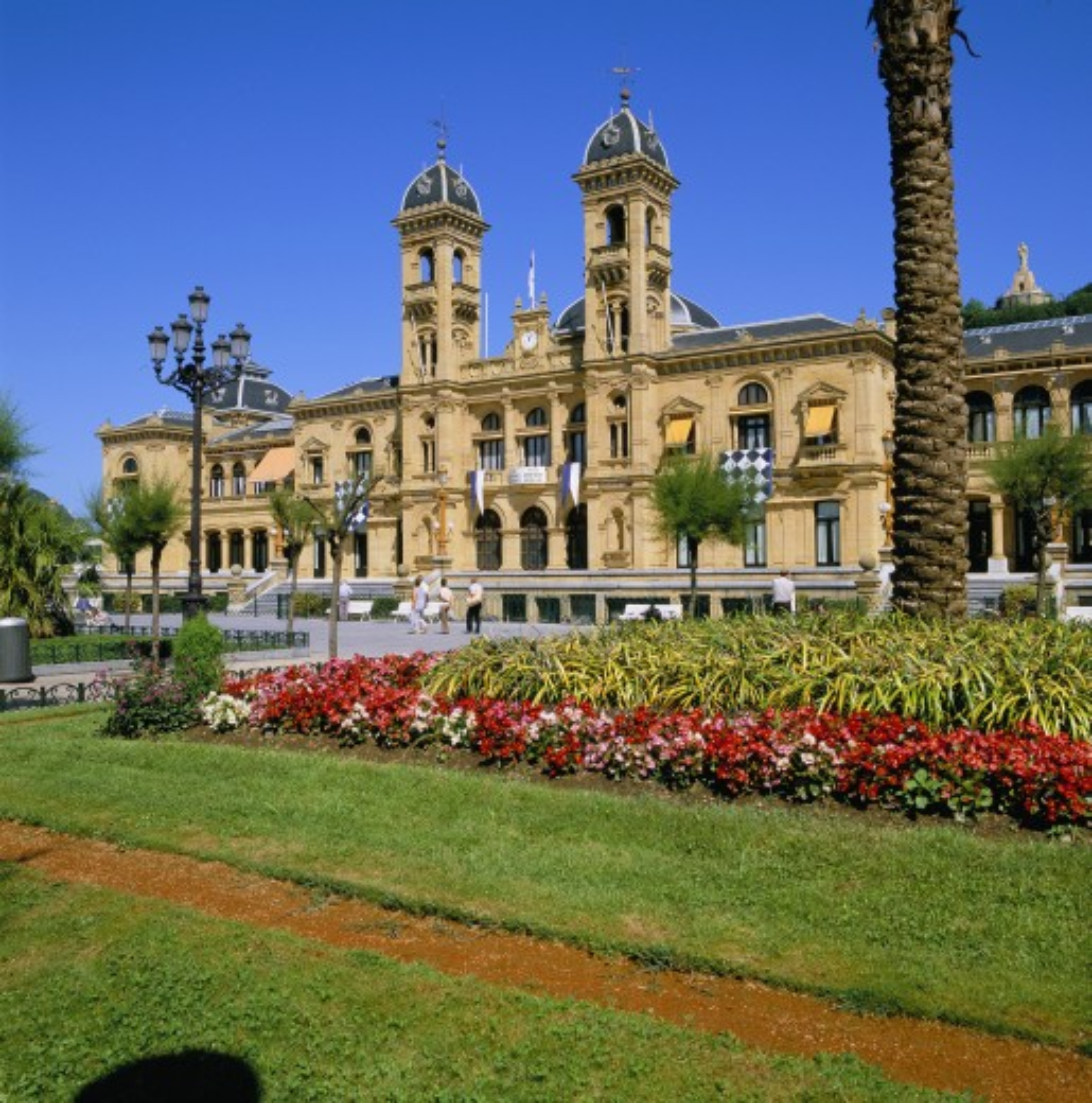 Spain, Basque , San Sebastian, Ayuntamiento (Town Hall) : Stock Photo