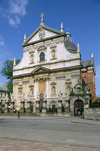Stock Photo: 1885-8482 POLAND, , KRAKOW, CHURCH OF SS PETER & PAUL - GRODZKA ST