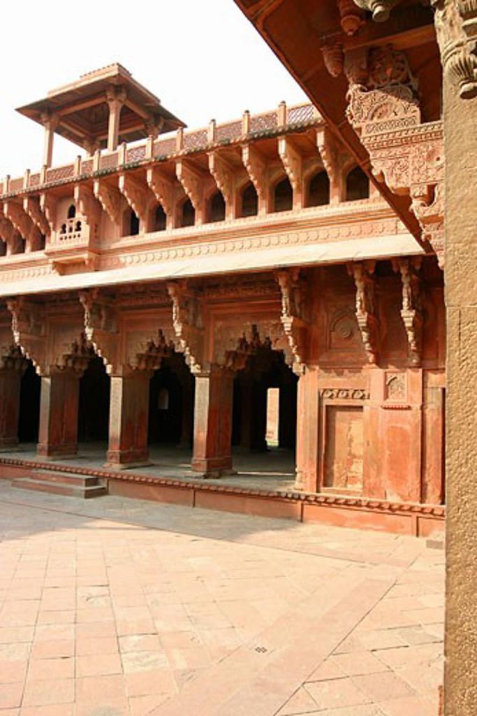 India, Uttar Pradesh, Agra, VIEW OF AGRA FORT : Stock Photo