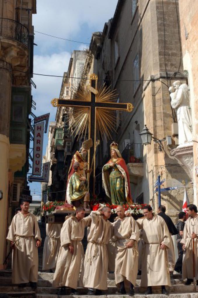 Maltese Islands, Malta, Valletta, A procession : Stock Photo