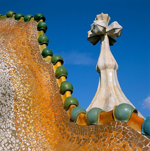 Spain, Catalunya, Barcelona, Casa Batllo by Gaudi : Stock Photo
