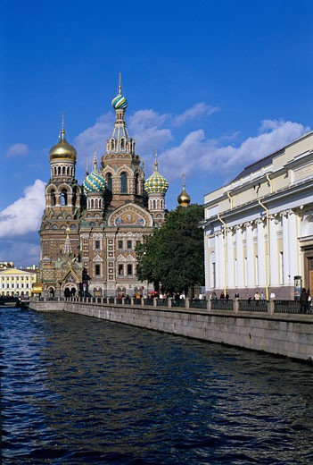 Stock Photo: 1885-9641 Russian Federation, , St Petersburg, The Church on the Blood - Russian Orthodox Church
