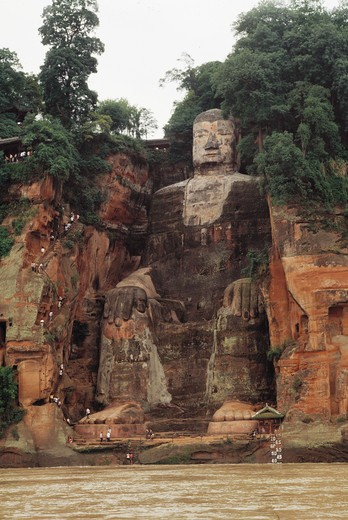 Stock Photo: 1886-22828 Grand buddha in leshan,China