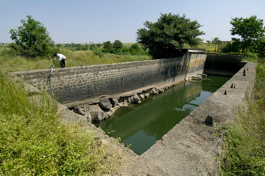 Krishna Lift Irrigation Project at Ralegan Siddhi near Pune ; Maharashtra ; India : Stock Photo
