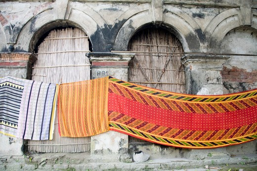 Stock Photo: 1886-48778 Colorful saree in the haveli ; village Tauta; district Manikgunj ; Bangladesh